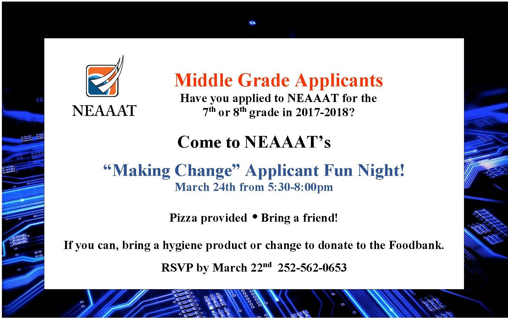 Join Us for Applicant Fun Night – March 24th – Northeast