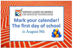 Mark your calendar - School starts Aug 9