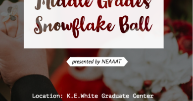 Middle Grades Snowflake Ball ~ January 6th