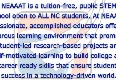 NEAAAT is a NC public charter serving grades 7-12
