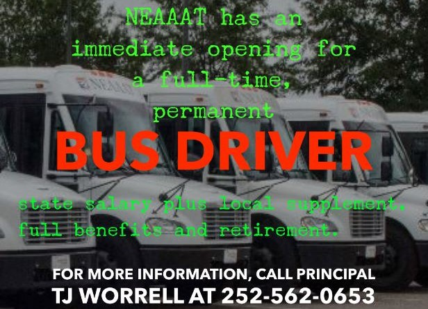 Now Hiring Bus Driver lower pixel